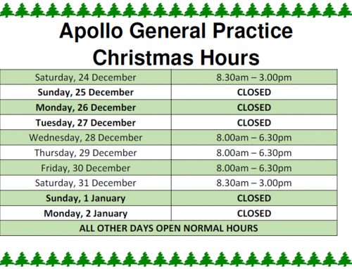 Apollo General Practice Christmas Hours
